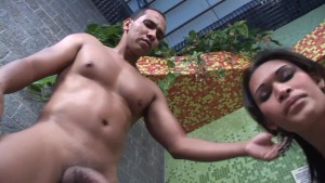Getting rammed by a thick black cock