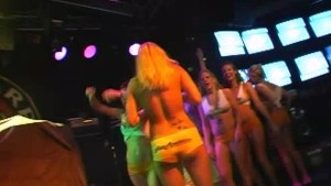 Young College Coeds Showing Off Their Tight Bodies During Spring Break Key West 2012