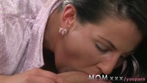 MOM Brunette fucks her poorly lover