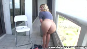 ShesNew Hot Ass blonde babe doggy style fucked
