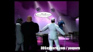 Mad Public Orgy in Gay Club 3D Gay Comics or Anime Cartoon Story