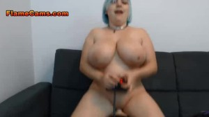 Punk BBW Has Fun With Her Machine