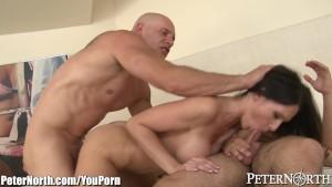 PeterNorth Big Tits MILF Fucked by 2 Men