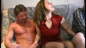 Perky babe strokes both our cocks - Telsev