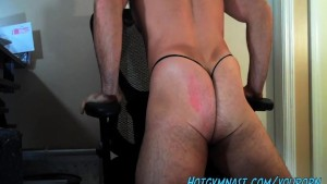 College Muscle Stud with big cock!