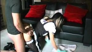 Maryline gets fucked during cleaning
