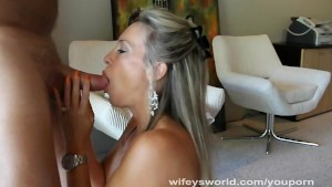 Wifey Swallows Cum In Office Blowjob