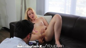 Casting Couch-X Vegas blonde gambles on porn for $