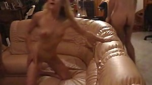 Real naughty milf enjoying a steamy threesome sex