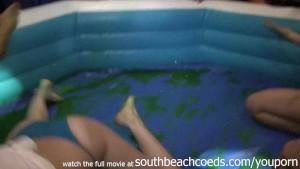 wild hot girls jello wrestling in college bar south beach florida