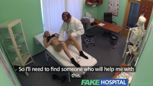 FakeHospital Single blonde welcomes doctors thick cock and skilled tongue during examination