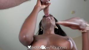 4K HD - Exotic4k Ebony Tiffany Taylor loves big white cock