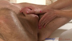 Massage Rooms Blonde masseuse squirts everywhere whilst taking big cock