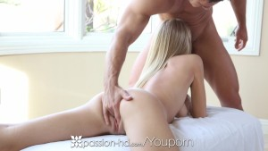 HD Passion-HD - Hot blonde Natalia gets a nice pearl necklace from Johnny