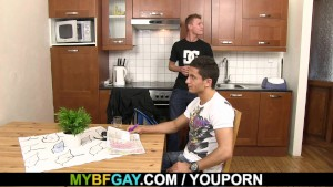 She leaves and gay fuck his buddy