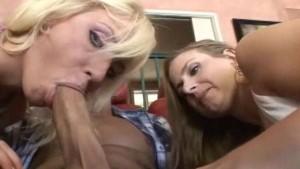 Busty mom teaching cute teen sex