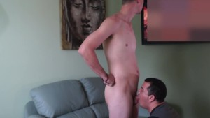 Blowing hung Construction worker