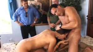 Horny Housewife Swinging Husband Watches