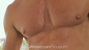 GayRoom - Blindfolded muscle Tyler Saint fucks Conner Habib