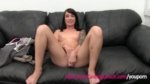 Next Door Waitress Ambush Creampie on Casting Couch