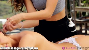 AllGirlMassage Abigail Mac and Remy LaCroix Outside