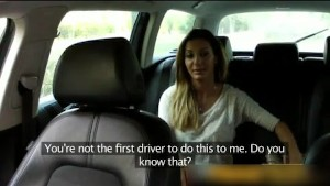 blonde having fun with fake taxi driver 25