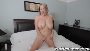 All Natural Busty babe Maggie Green Plays With Pussy!