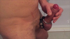 HD - Cum shot after 2 hours edging with cockring