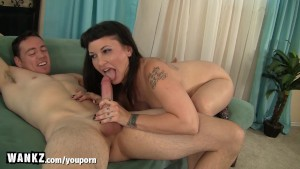 WANKZ - Curvy Step-Mom Gets Cum All Over Her Lips!