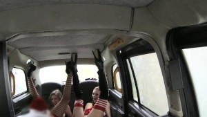 FakeTaxi Anal elfs in santa threesome