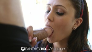 FantasyHD - Petite student Ariana Marie fuck for the first time