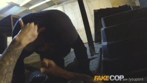 Fake Cop Masked robber fucked by fake copper