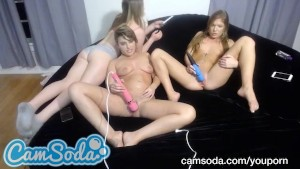 3 horny babes showing camsoda fans a masturbation treat all at once
