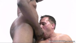 Nervous first timer sucking black cocks to finance his college