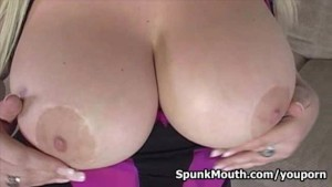 Nice and cute Abbey Brooks wants big fat cock between her huge tits