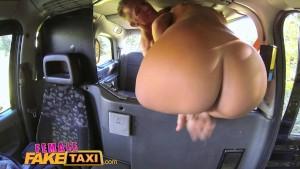 FemaleFakeTaxi Drivers tight body covered in cum