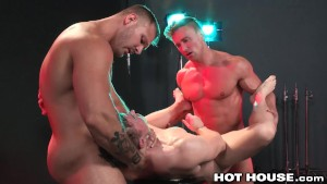 HotHouse Gabriel Cross Fucked by 2 Gorgeous Men