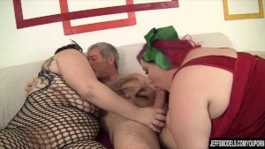 Two Tons of Fun Cum Down Hard on a Lucky Dude s Cock