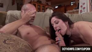 Husband watches wife take huge cock