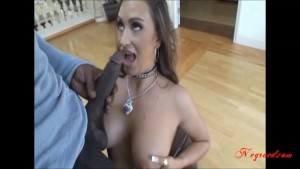 sexy hot milf with big real tits taking big black cock up her tiny pussy and cum in face