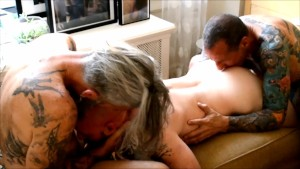 I m Sucking His Cock while the other Guy gets my Ass Ready...