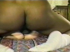 Wifey gets two black cocks