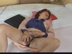 Two horny women play with themselves
