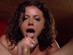 Penny Flame has a mouth full of cock