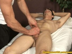 Muscle Hunk Rubs A Twink