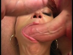 Two cocks in mouth at one time