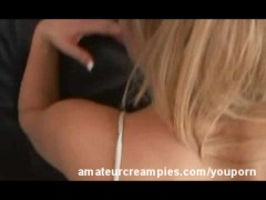 Amy Amour Amateur Creampie Pussy Filled