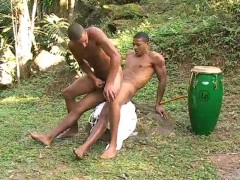 Two latinos are enjoying eachothers cock in the forest - The French Connection