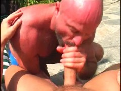 Young dude meets a mature bear on vacation - Pacific Sun Entertainment