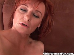 Sleazy grandma in nylo... video